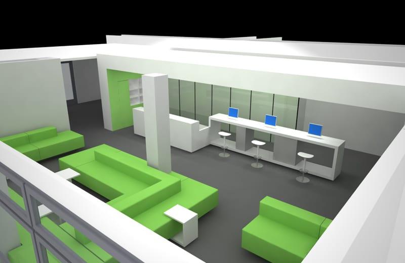 3D-Rendering Konzept- / Farbstudie