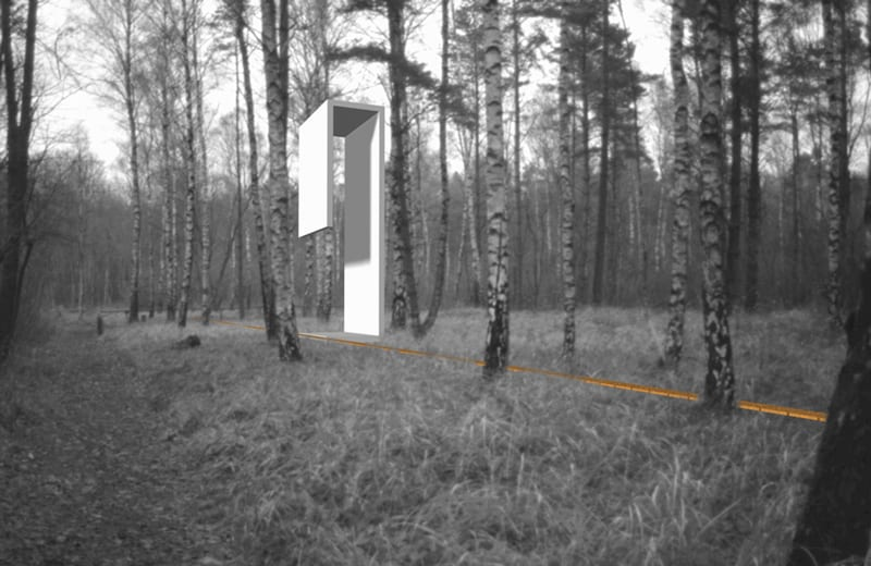 Landmark: abstrahierter Wachturm