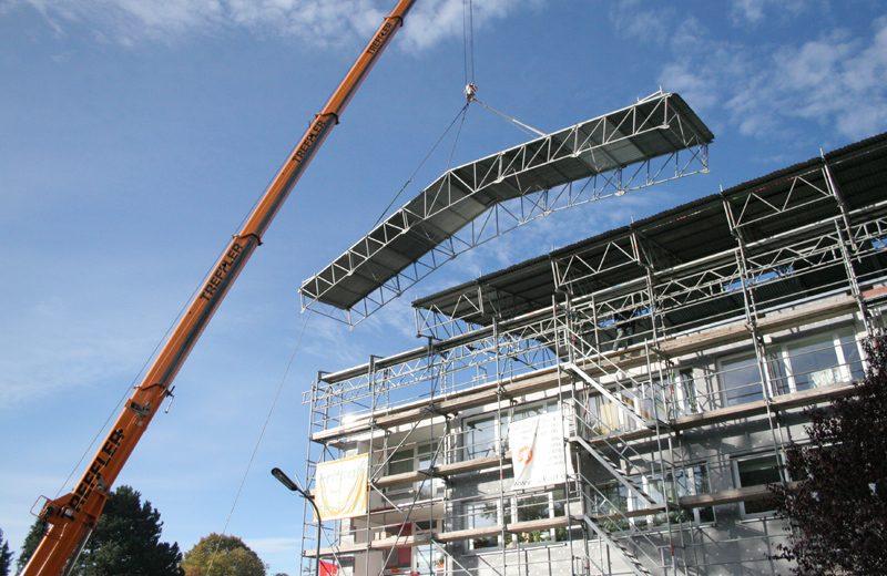 Dachsanierung Baustelle