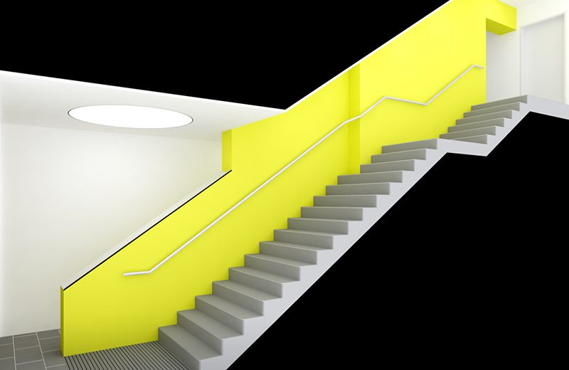 Konzeptstudie Treppenraum