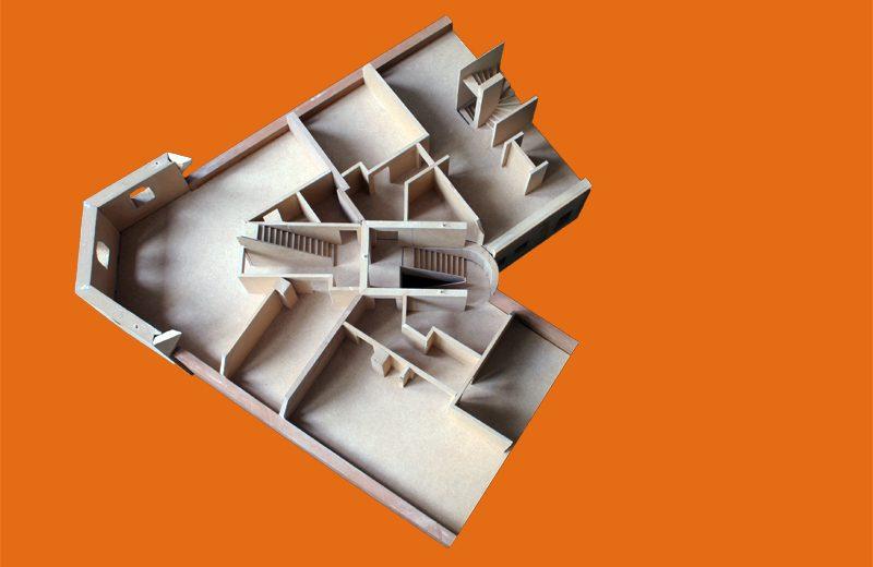 Modellstudei Dachgeschoss 1