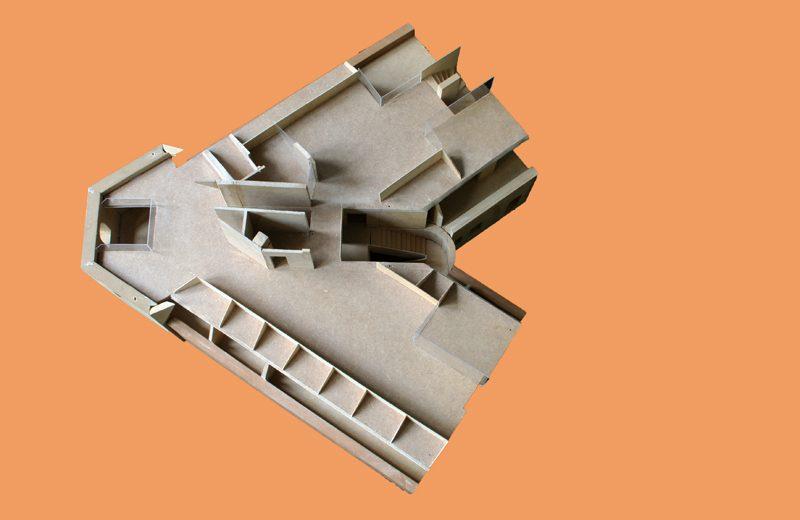 Modellstudie Dachgeschoss 2